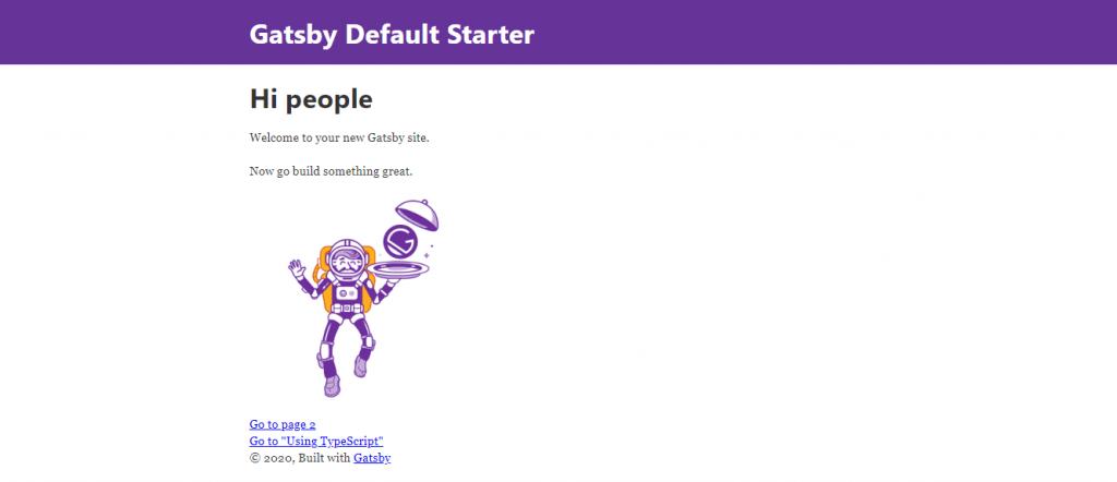 Gatby Default Starter
