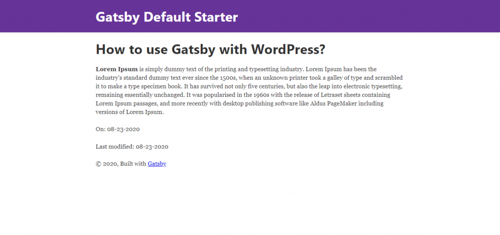 How to use Gatsby with WordPress