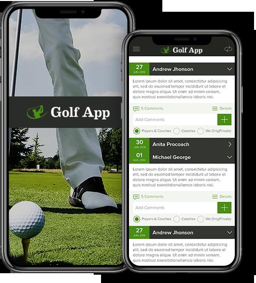 Golf app banner